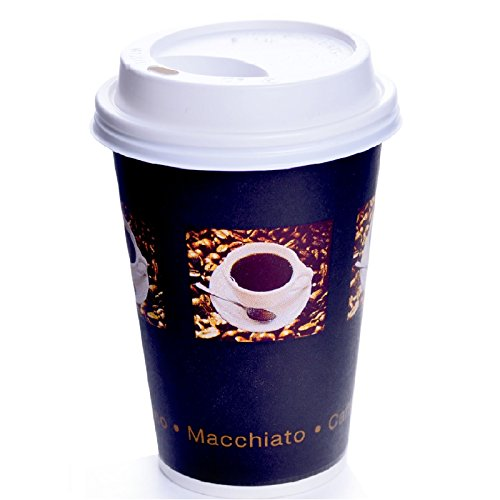200 x Coffee to go Becher Bean 33 cl + Deckel Weiss Kaffeebecher 0,3l Pappbecher 330ml 12oz
