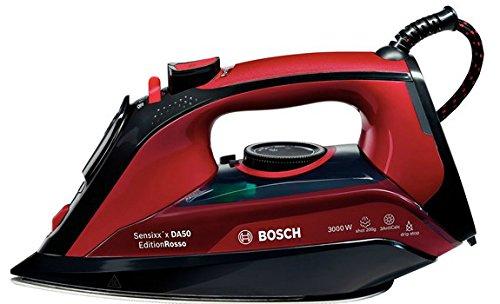 Bosch Hausgeräte 4242002755397 TDA503011P Bügeleisen, Kunststoff, Schwarz-rot