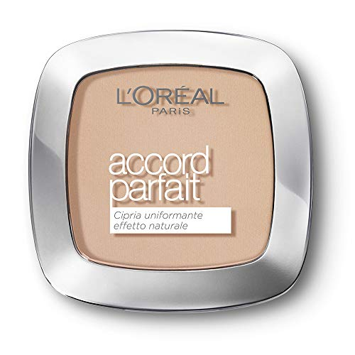 L'Oréal Paris MakeUp Cipria Uniformante Accord Parfait, Cipria in Polvere Uniformante e Fissante, 2N Vanille, Confezione da 1