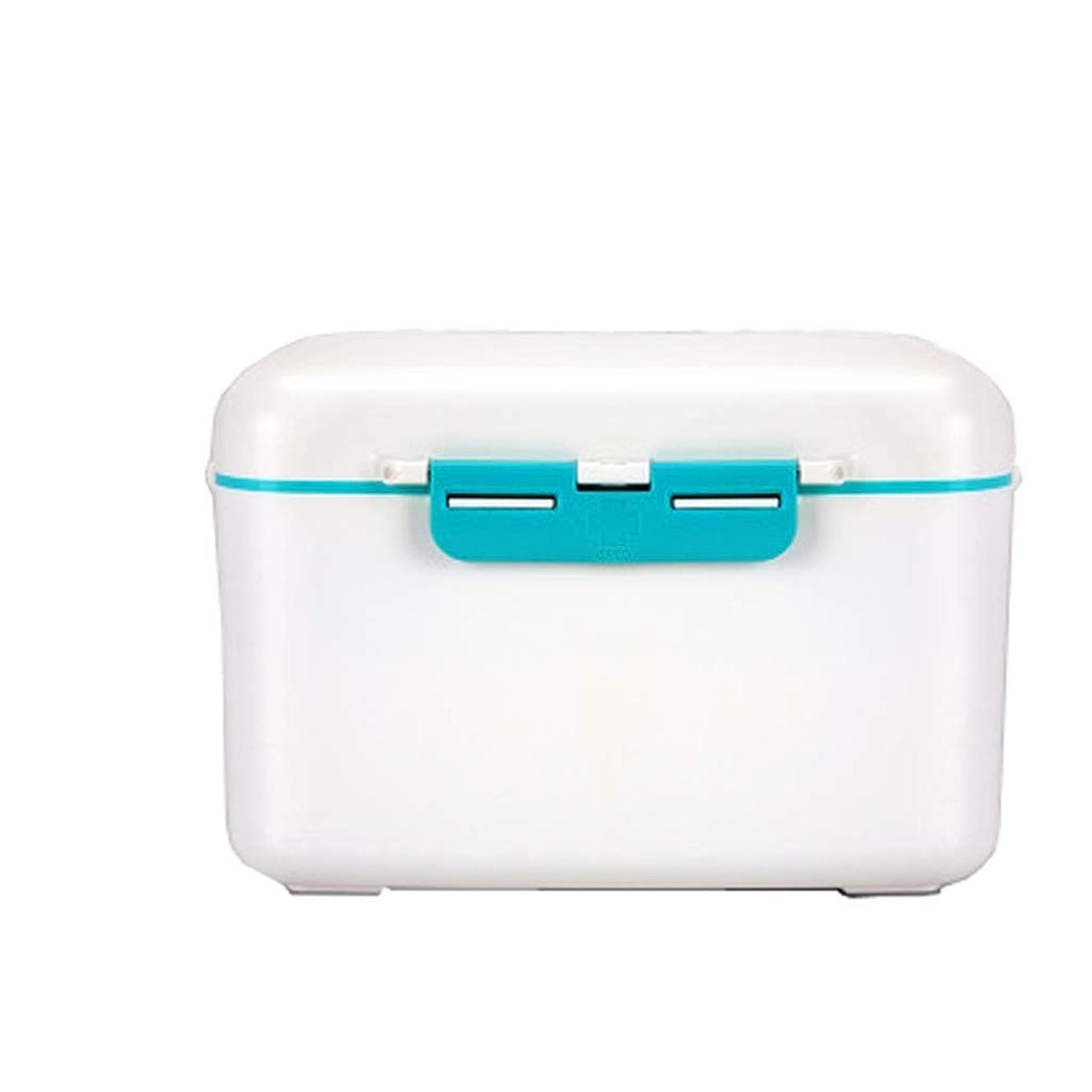 独創的イル擬人化YQCS●LS 応急処置薬収納ボックスポータブル家庭用収納ボックス家庭用防塵プラスチック救急箱ポータブル