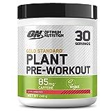 Optimum Nutrition Gold Standard Plant Pre-workout, Pre Workout Vegano en Polvo con Cafeína, Fresa, 30 Porciones, 240 g