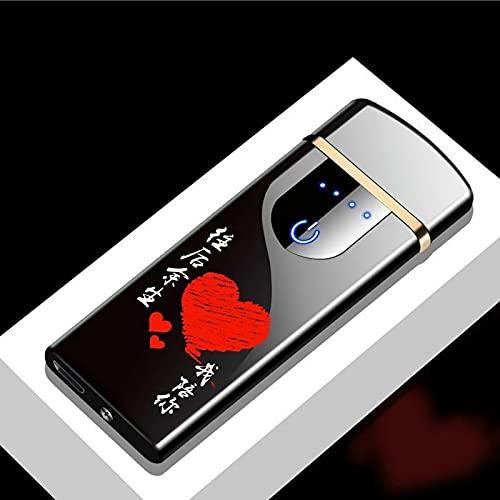MUYEY Novedad Eléctrica Táctil Sensor De Tacto Frío Encendedor USB Recargables Portátiles A Prueba De Viento A Prueba De Viento Accesorios para Fumadores,10