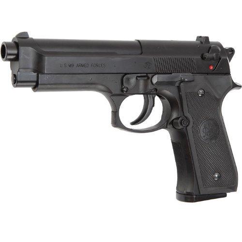 NICK and BEN Softair M9 World Defender < 0.5 Joule Pistola Airsoft, Unisex Adulto, Negro, Talla única
