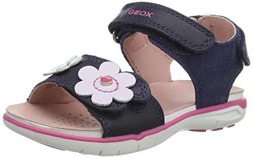 Geox Baby-Mädchen B Delhi Girl Flat Sandal, NAVY, 23 EU