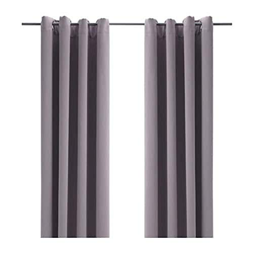 IKEA BOLLOLVON Blackout Curtains, 1 Pair, Gray (Pack of 1, 57x98, Gray)