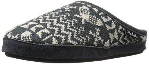 Woolrich Women's Whitecap Knit Mule Slipper, Charcoal Snowshoe, 7 M US