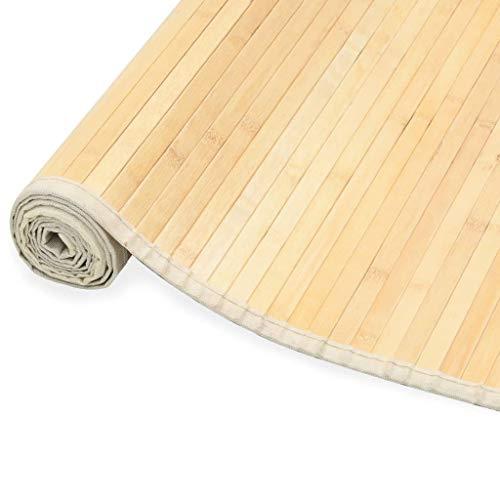 vidaXL Teppich Bambus 100x160cm Wohnzimmer Läufer Bambusteppich Bambusmatte