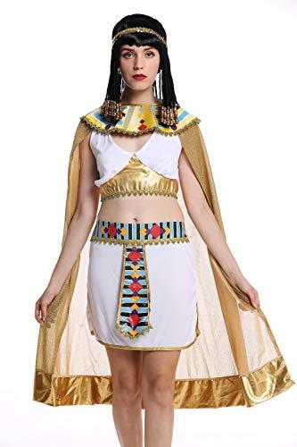 dressmeup W-0199 Kostüm Damen Frauen Karneval Halloween Ägypterin Kleopatra Cleopatra Pharaonin weiß M