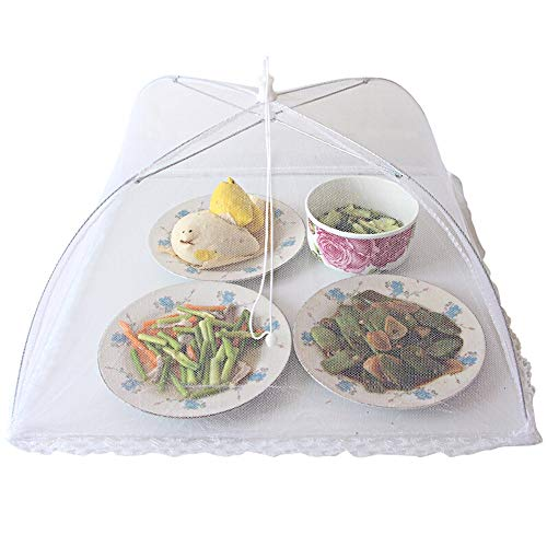 YIN YIN- Mesh food cover, foldable table cover, outdoor dinner, barbecue, fruit, insect and dustproof meal cover, reusable /@ (Color : 42x42x22cm)