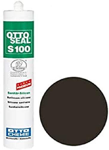 OTTOSEAL S100 Premium-Sanitär-Silicon 300 ml - Braun C05 Silikon Sanitär Fugen Abdichtung - 1K Silicon Dichtstoff - Sanitärbereich Boden & Wand