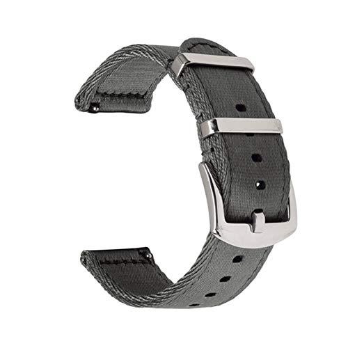 MGHN Nylon Uhrenarmbänder 18mm 20mm 22mm 24mm Schnellspanner Nylonband doppelt dick Dicker Leinwand-Nylon-Armband (Color : Gray, Size : 20mm)
