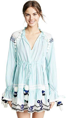 Hemant and Nandita Women's Short Dress, Light Blue, X-Large