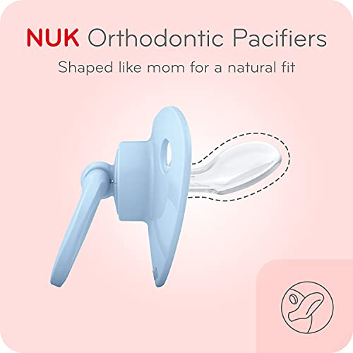NUK Orthodontic Pacifiers, 6-18 Months, 5 Pack, Timeless Collection, Amazon Exclusive