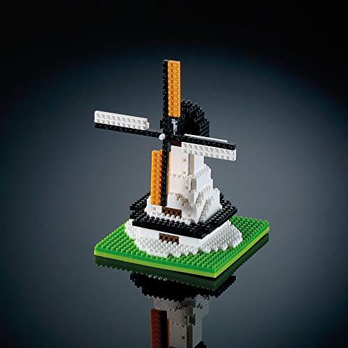Brixies 410143 - Molino de Viento Grande, Puzzle 3D, Países Bajos Edición, 315 Partes, Nivel de dificultad 3, Pesado, Multicolor