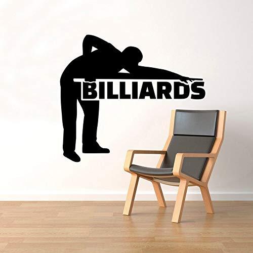 CECILIAPATER Wandtattoo Billiards-Spieler, Vinyl-Aufkleber, Zimmerdekoration, Dekoration für Innenräume (83nr)
