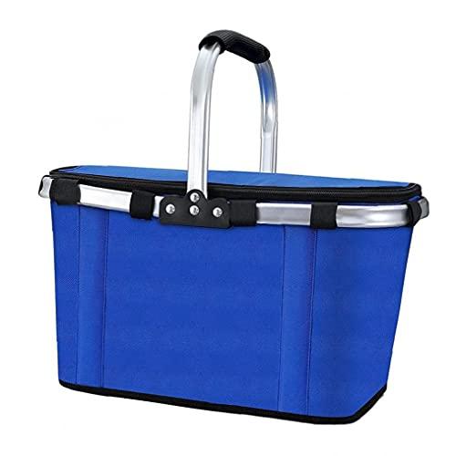 Naisidier Outdoor Folding Isolierbox, Kühltasche, Picknick-Korb tragbare Tasche, Großes isoliertes Picknick/Food Tasche mit Schnellzugriff Hatch für Camping/Grill/Familie Outdoor-Aktivitäten.