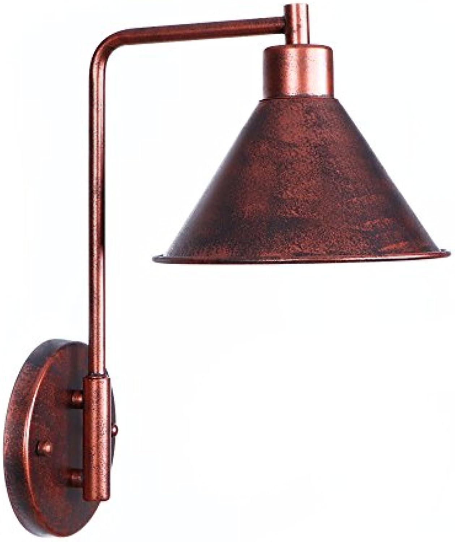 Amerikanischen Stil Vintage Loft Einfachheit Stil Wandlampen Wandleuchten Wohnzimmer Schlafzimmer Nachttischlampe Metall Eisen Kunst Dekoration Wandleuchte,rot