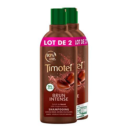 Timotei Après Shampoing Femme Brun Intense, Extrait de henné 100% d'origine naturelle, Idéal pour les cheveux bruns, naturels ou colorés (Lot de 2x300ml)
