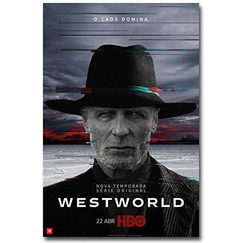 chtshjdtb Westworld Stagione 2 Serie TV Show Wall Poster Art Pittura su Tela Decorazioni per pareti per la casa Regalo Opere d'Arte -50x70cm Senza Cornice 1 PZ