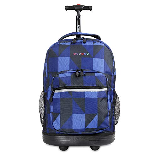 J World New York Sunrise Rolling Backpack, Block Navy, One Size