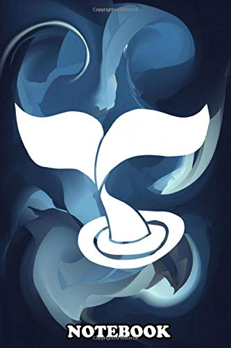 """Notebook: Whale Tail Abstract Painting With Blue Color This Is C , Journal for Writing, College Ruled Size 6"""" x 9"""", 110 Pages"""