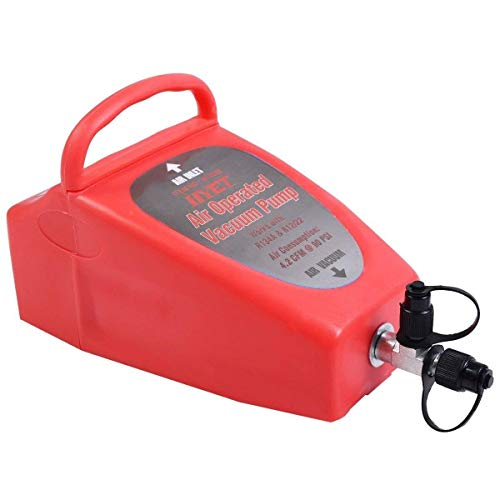 GOFLAME A/C AC Air Conditioning System Tool Auto 4.2CFM Penumatic Air Operated Vacuum Pump Conditioner