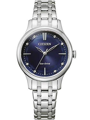 Citizen Eco-Drive Damenuhr Edelstahl Blau EM0890-85L