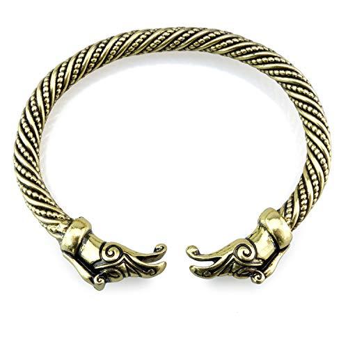 URBANTIMBER Wikinger Armreif Hugin & Munin - Silber oder Bronze/Gold