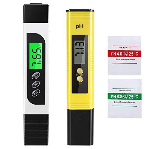 EXTSUD PH Messgerät, Digital PH Meter PH Wert Messgerät, Wasserqualität Tester mit Hoher Genauigkeit Pooltester Wassertester TDS Messgerät für Trinkwasser Schwimmbad Pools