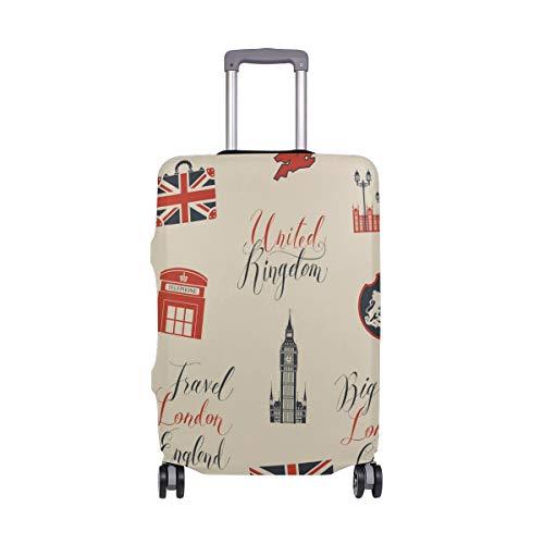 MyDaily London Symbols Sehenswürdigkeiten Fahne Gepäck Cover passend für 45,7-81,3 cm Koffer Spandex Reiseschutz