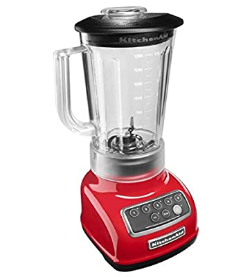 KitchenAid RKSB1570ER 5-Speed Blender with 56-Ounce BPA-Free Pitcher - Empire Red (Renewed)