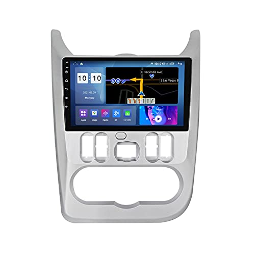ADMLZQQ para Renault Logan 2009-2015 Android 10.0 Car Stereo Autoradio Navegación para Automóvil 9 Pulgadas, Bluetooth Carplay FM Am GPS DSP Cámara Trasera Ventilador Enfriamiento,M600s 8core 6+128g