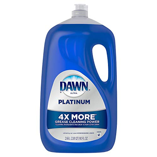 Dawn Ultra Platinum Power Dishwashing Liquid, Refreshing Rain, 90 Ounce