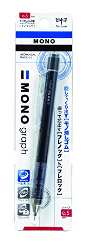 Tombow Mono Graph Shaker Mechanical Pencil 0.5mm, Black Body (SH-MG11)