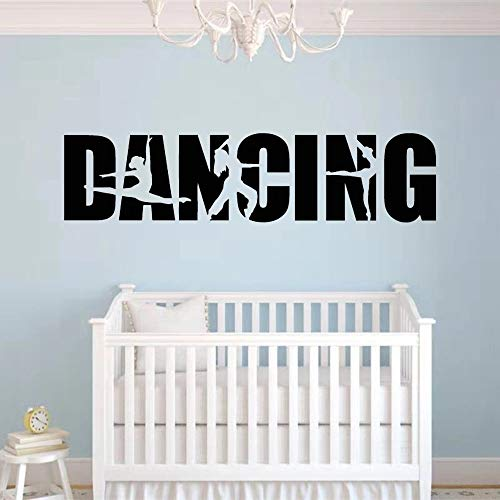 Vinyl Wall Stickers Dancing Words Ballet Dancer Hip Hop Dance Living Room TV Background Children's Bedroom Decoration