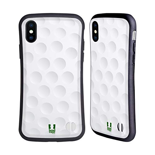 Head Case Designs Golf Colección de Bolas Carcasa híbrida Compatible con Apple iPhone X/iPhone XS