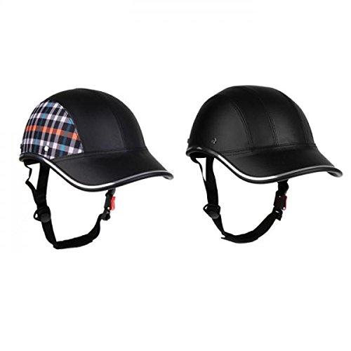 2pcs Baseball Cap Style Motorrad Fahrradhelm Anti-UV-Safe Helm Visier Hut