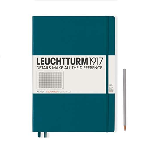 Leuchtturm 359789 Master Slim - Cuaderno (A4+, tapa dura), color verde
