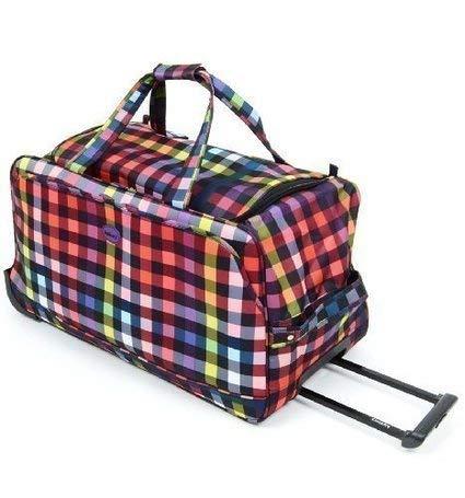 HIGHBURY - 74cm Large Wheeled Holdall - 28 inch Large Wheeled Suitcase - Multi Coloured Box Design
