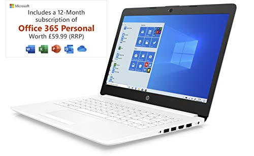 HP Stream 14-cm0042na 14 Inch Laptop, White (AMD A4-9125...
