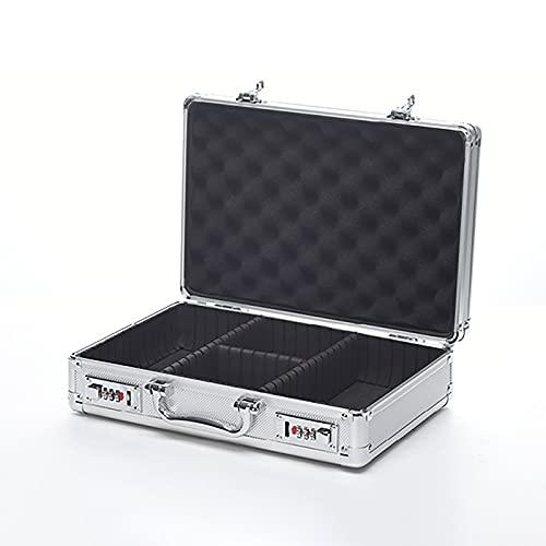 FDYZS Caja de contraseña portátil Segura de pequeño Valor, Caja de aleación de Aluminio, Caja de Almacenamiento, Caja Fuerte, demostración de Producto Muestra de Muestra Caja de Herramientas