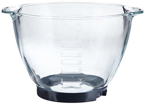 Kenwood AT 550 Cuenco para mezclar de cristal, 4.6 L, Vidrio, Transparente