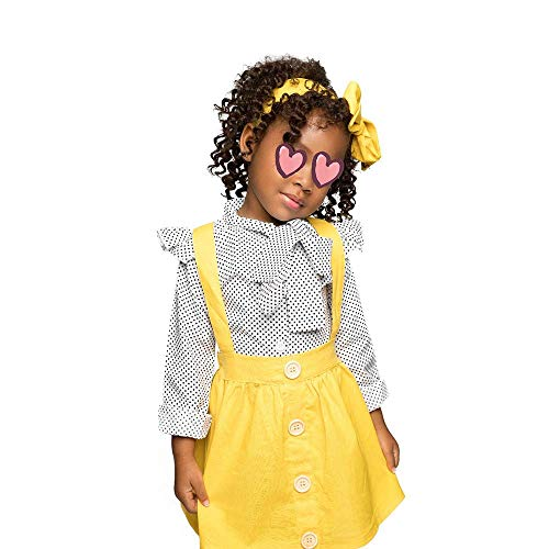 Vestido de Tirantes de Camiseta para bebé 2 Piezas/Juego Conjunto de Ropa de Falda a Cuadros con Monos de Manga Larga para niña pequeña