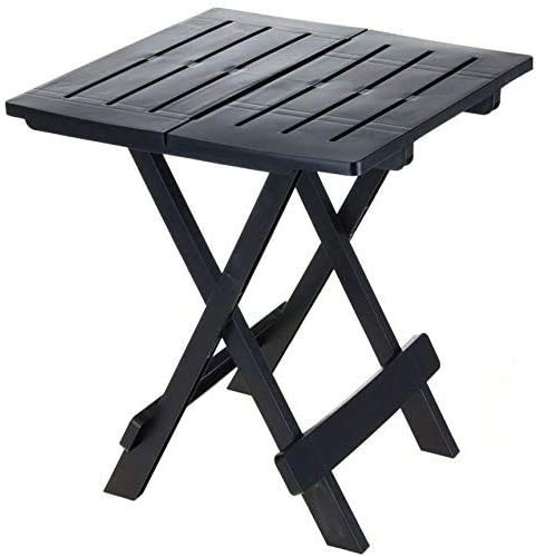 Tavolino Basso Pieghevole in plastica - 45x43x50 CM (antarcite)