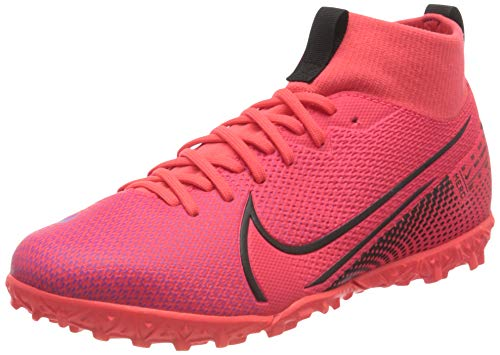 Nike Unisex_Child Superfly 7 Academy TF Football Boots, Red Laser Crimson Black Laser Crim 606, 3 UK