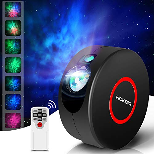 LED Night Light, Colorful Projector, HOKEKI Star Projector, Galaxy Projector, Lights for Room, Starlight Projector, 7 Lighting Effects, SuitableFor Bedroom and Party Decoration,Black