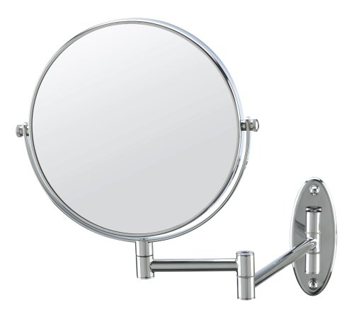 Conair Classique Standard Wall Mount Mirror with 5x Magnification, Chrome Finish