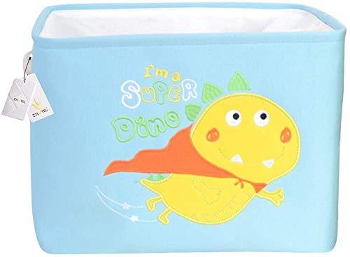 Babyspielzeug Kleidung Lagerung Nursery-Organisator-Beutel-faltbare große rechteckige Speicher-Korb-nette Karikatur-Kinderzimmer scherzt Wäschekorb zusammenklappbare Gewebe Spielzeug Lagerplatz mit Ko