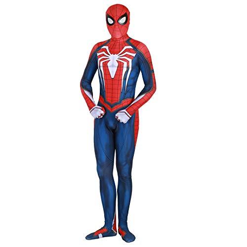 PS4 Advanced Suit Costume, Halloween Spiderman Jumpsuit (L)