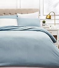 Amazon Basics - Juego de ropa de cama con funda nórdica de microfibra y 2 fundas de almohada - 200 x 200 cm, azul spa